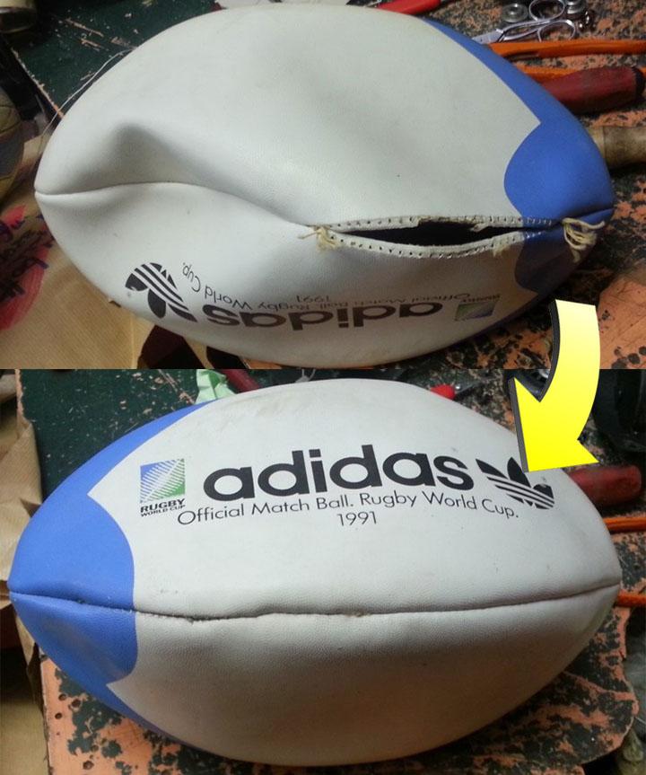 Cucitura palla da rugby